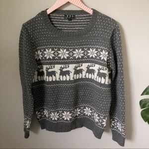 POL Christmas Reindeer Sweater Size Large